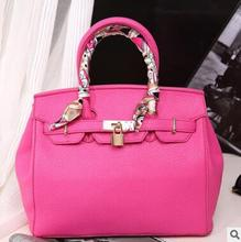 High Quality Women Famous Brand Genuine Leather Handbags Tote Bags Togo Leather Designer Gold Lock Handbags with Shoulder Strap