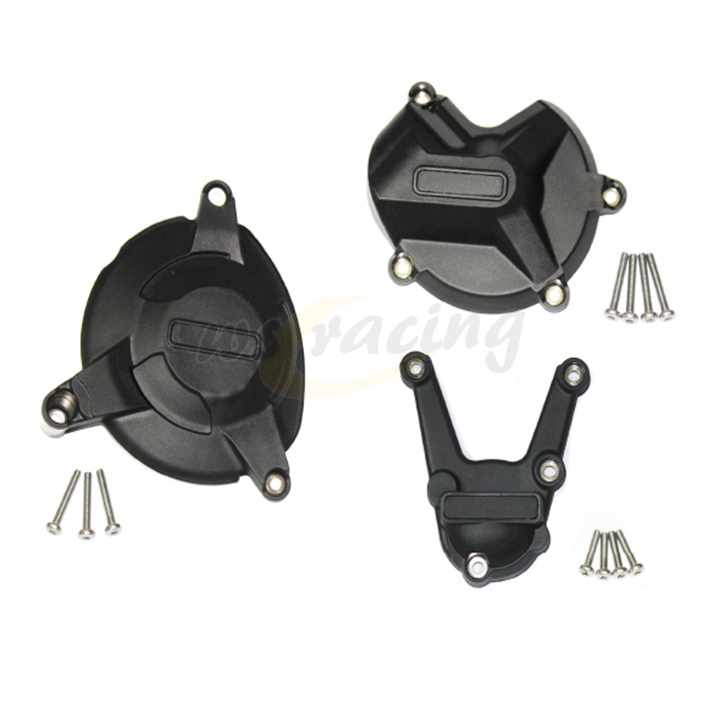 Motorcycle Black Engine Cover Protection Case Set Kit For BMW S1000RR S 1000 RR 2009-2016 09 10 11 12 13 14 15 16 zoomer ruckus fi nps50 black engine frame extend extension kit with handle post