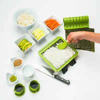 Sushi Making Kit, DIY Rice Roller Machine Sushi Mat, Super Easy Sushi Maker for Beginner Must Have Kitchen Appliance