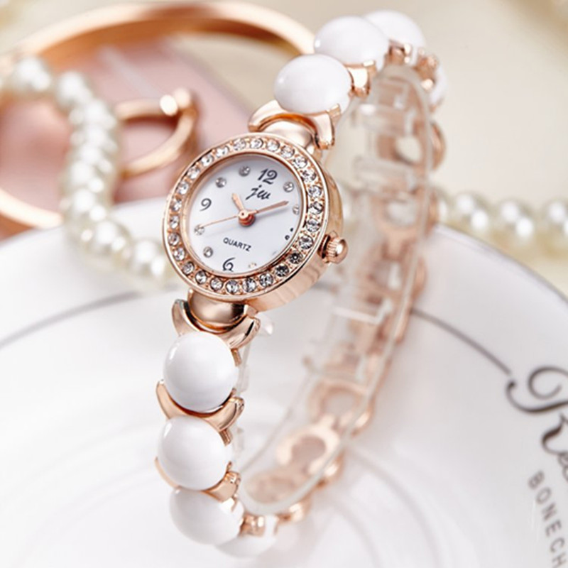JW 2019 New Arrival Quartz Watch Women Luxury Brand Rhinestone Bracelet watches Ladies Fashion Stainless Steel Gold Wristwatches