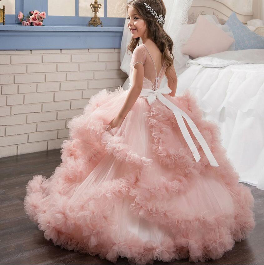 Bola Niñas Vestidos para la boda madre hija vestido niño vestido ...