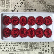 1 box High Quality Preserved Flowers Flower Immortal Rose 3CM diameter mothers day gift Eternal Life Flower Material gift box
