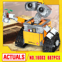 Lepin 16003 Ideas Robot Wall E Building Assembling Blocks Bricks Educational Mini Figures Kid S Toys