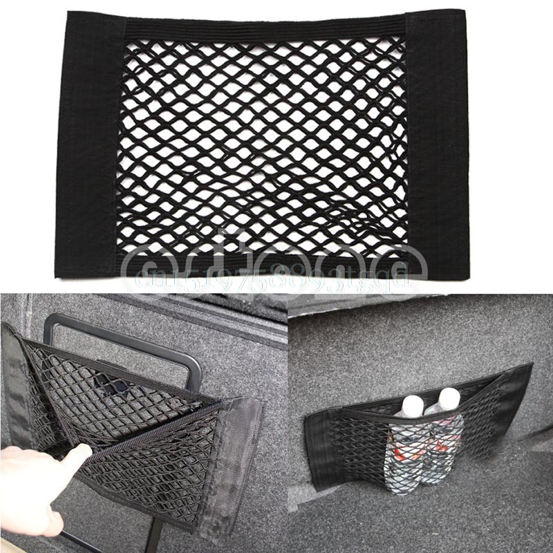 1PC Car Back Rear Trunk Seat Elastic String Net Mesh Storage Bag Pocket Cage#T518#