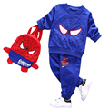 Spiderman 3PCS boy clothes puppy dog boys clothing set Christmas costume kids tracksuit boy set  kids clothes
