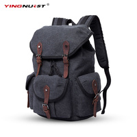 New 13 15 Canvas Laptop Backpack Computer Camera Bag Men Women Travel Photo Bag For Sony
