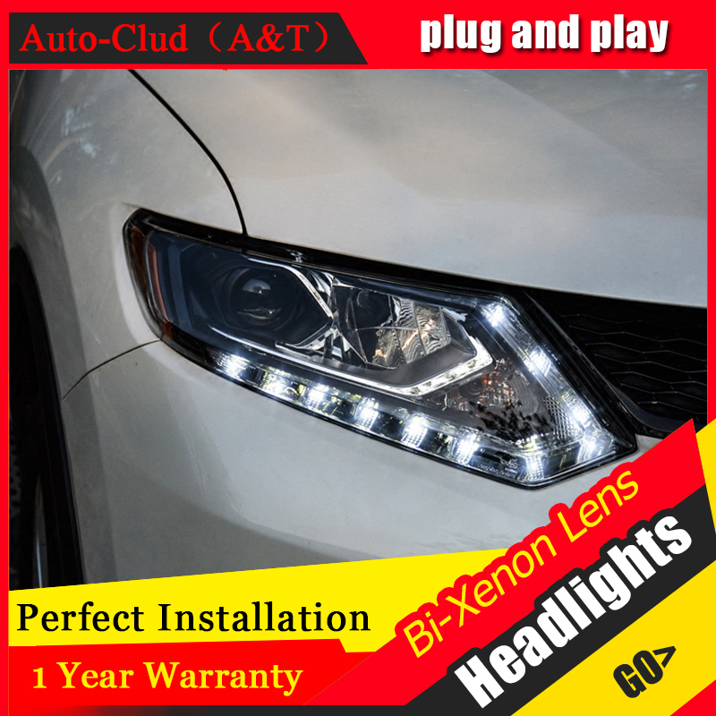 Car Styling For NISSAN X-TRAIL led headlights For X-TRAIL head lamp Angel eye led DRL front light Bi-Xenon Lens xenon HID KIT electric car motorcycle 15w led headlights modification lens light 12 60v