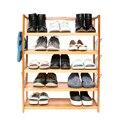 5-уровневая простая деревянная стойка для обуви  6 пар  форма для обуви  для домашнего хранения  высокая прочность  деревянная цветная стойка ...