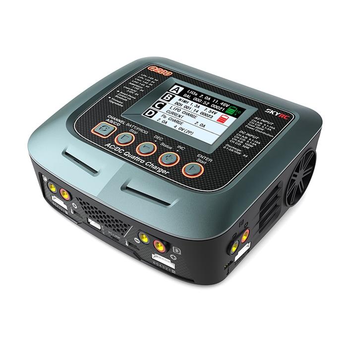 SKYRC Q200 Caricatore Quattro Balance Caricatore/Dischargerr 4 Batterie in una sola volta AC/DC di Ingresso per la batteria Lipo/LiHV /litio ferro/Ion/NiMH