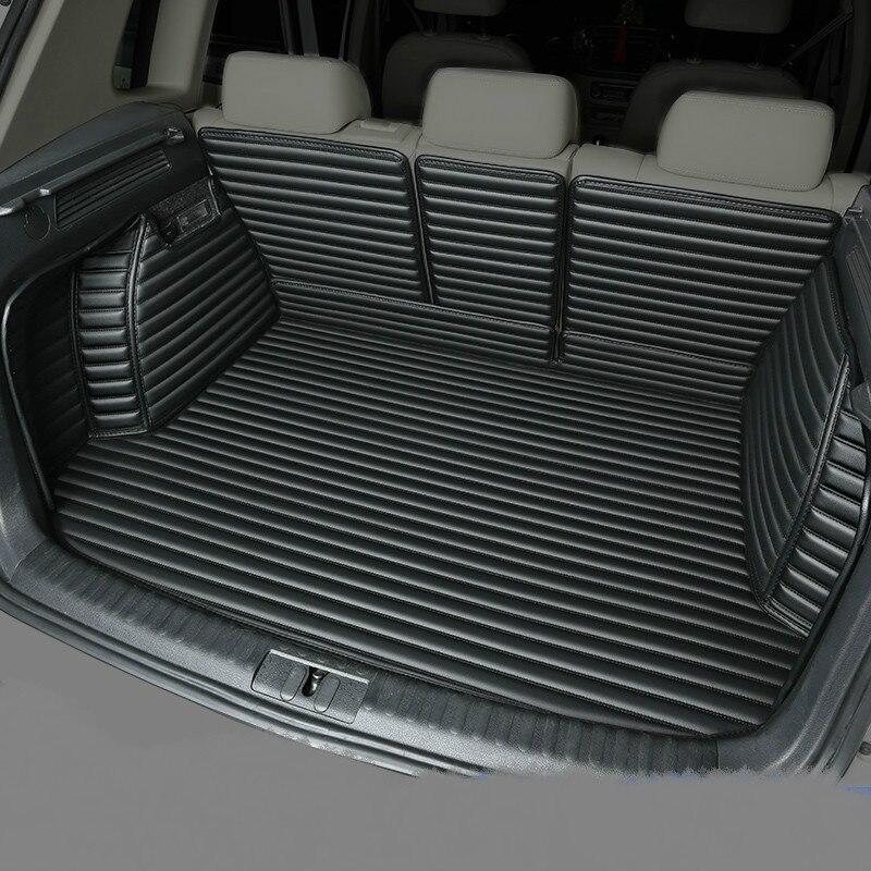 Полностью Покрытые водонепроницаемые ковры для ботинок прочные специальные автомобильные коврики для багажника Lincoln MKX MKZ MKS MKC MKT навигатор Континентальный - Название цвета: Черный
