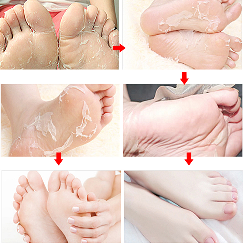 2pair=4pcs Foot Mask for Legs Peel Dead Skin Exfoliating Foot Mask Cream Socks for Pedicure Cracked Heels Baby Foot Peeling Mask 4