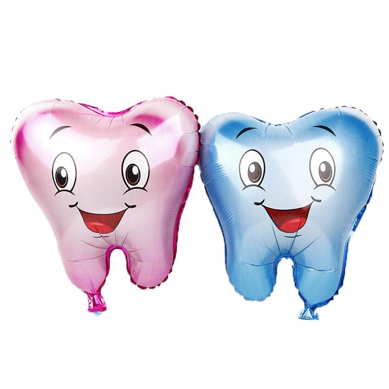 50 stks Grote Tand Folie Ballonnen Blauw Roze Opblaasbare Globos voor Tandheelkunde Kliniek Home Decoraties Verjaardagsfeestje Supplies Ballon-in Ballonnen & Accessoires van Huis & Tuin op  Groep 1