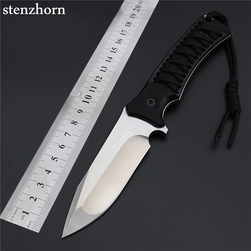 Stenzhorn 2017 New Arrival Outdoor Field Army Self-Defense High Hardness Fruit Knife Edged Weapon To Carry Knives In Black Rope