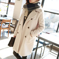 New Women temperament  Autumn & winter clothes  woolen loose Girls long woolen coat Korean version for girl