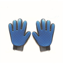 Pet soft silicone gloves dog clean mild and efficientdogs grooming gloves dog bath supplies pet glove massage comb hair brush pet cleaning supplies massage to float hair printing gloves white cat dog hair bathing beauty gloves dog silicone comb gloves