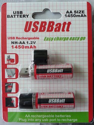 4pcs LiitoKala 1.2V 1450MAH USB AA Battery Rechargeable Battery 1450MAH USB AA With LED Indicator And Long Life Black
