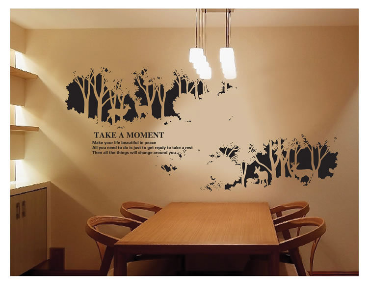 novelty black wall stickers home living room self adhesive