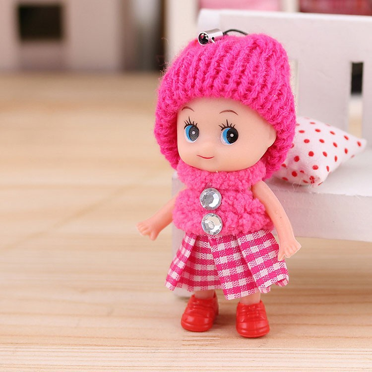 5Pcs Cute Kids Toys Soft Interactive Baby Dolls Toy Tiny Doll For Girls and Boys