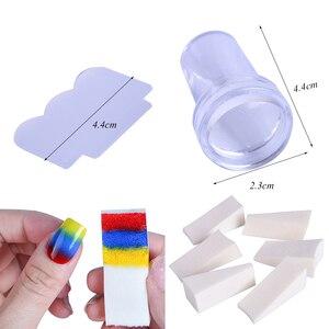 Image 3 - 1 conjunto prego placas de carimbo geometria laço flor sonho apanhador com jelly stamper scrapper esponja manicure imagem placa ferramenta ji804