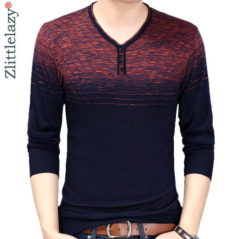 sale retailer 8c056 a71ad 2019 designer pullover striped men sweater dress thin jersey knitted  sweaters mens wear slim fit ...