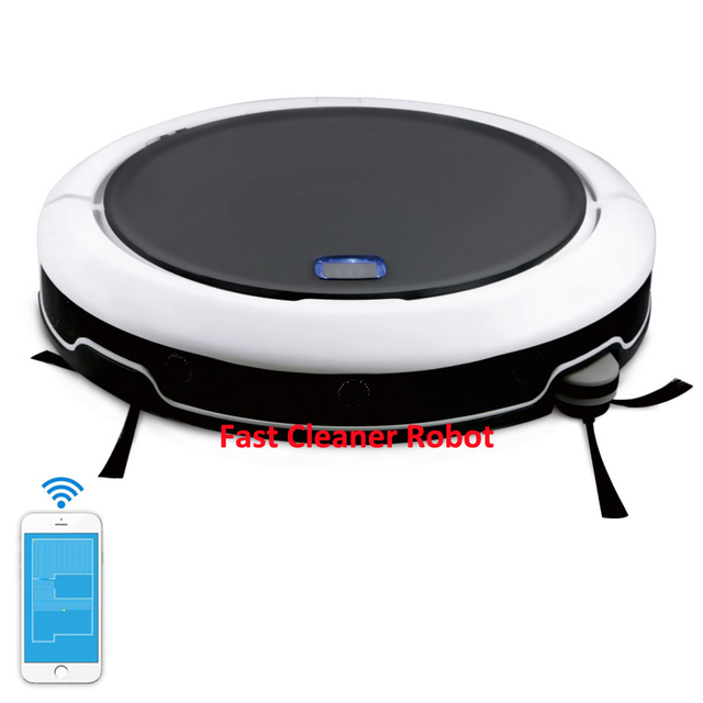 NEWEST Vacuum Cleaning Robot Cleaner QQ9 With Smartest GPS Navigation Smartphone WIFI Mapping Visible