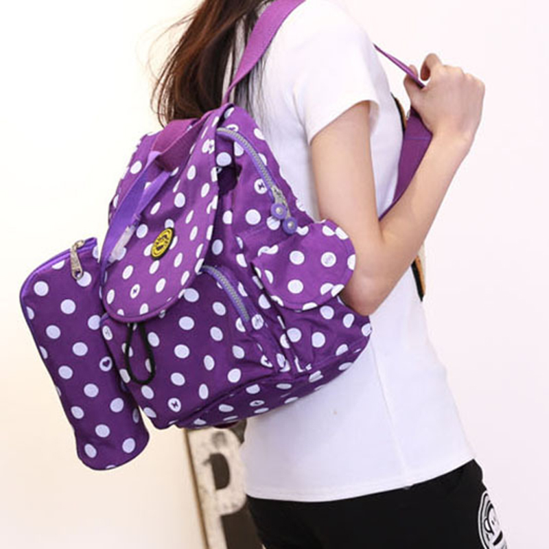 2018 new Mummy bag high-grade light fashion multi-functional backpack mother pregnant women go out bag Blue pink purple gray