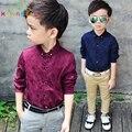 Niños blusas y camisas 2017 de primavera de los niños camisa de la ropa del bebé niños niños clothing para bodas de algodón camisa blusa b014
