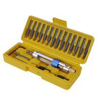 1 Set Half Time Drill 20 Bits High Speed Steel Drill Driver Double Use Hand Screwdriver