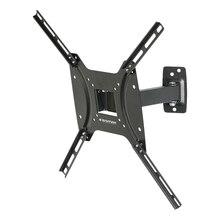 ТВ Кронштейн Kromax OPTIMA-403 black (22-55 дюймов, max 25 кг, Наклонно-поворотный, наклон 5°, поворот 90°)