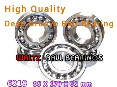 95mm Aperture High Quality Deep Groove Ball Bearing 6219 95x170x32 OPEN Ball Bearing 95mm aperture high quality deep groove ball bearing 6219 95x170x32 open ball bearing