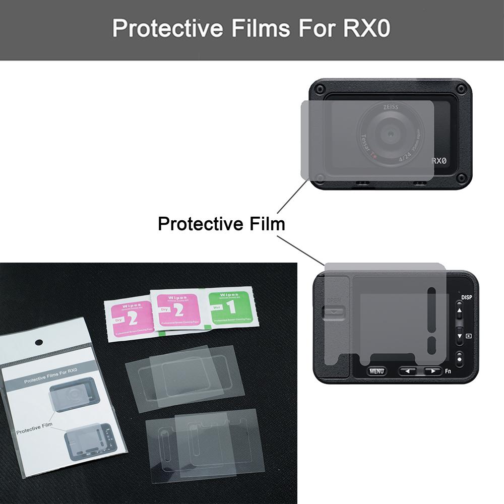 For sony DSC-RX0 Protector Film rx0 Camera Screen and Lens HD scratch protection film
