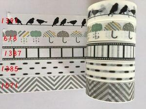 Image 3 - 2291 n cina allingrosso nastro jiataihe washi tape design decorativo modello FAI DA TE decorazione di natale logo arcobaleno 20 pz/lotto