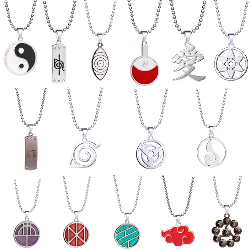 Anime Necklaces Geometric Star Akatsuki Cloud Pendant Necklace Couple Necklace For Men Women Jewelry Gift