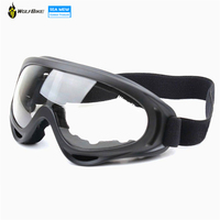 Black Frame Adult Snowmobile Ski Goggles Protective Glasses Outdoor Motorcycle Cycling Ski Sunglasses Eyewear Lens Transparent