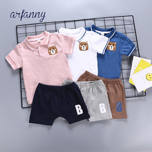 Baby Boy Clothes Suit Summer 100% Cotton PoloShirt shorts Casual 2-piece Boys Sets Clothing Infant Soft Feel Quality Set