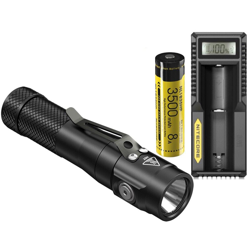 NITECORE EC30 Tactical Flashlight CREE XHP35 HD max 1800 lumen beam throw 220 meter tactical torch