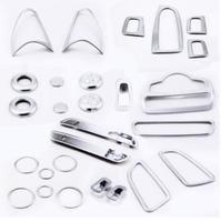 Хромированные пластиковые аксессуары для интерьера весь комплект крышки для Mercedes Benz GLC Class X205 2015 2016