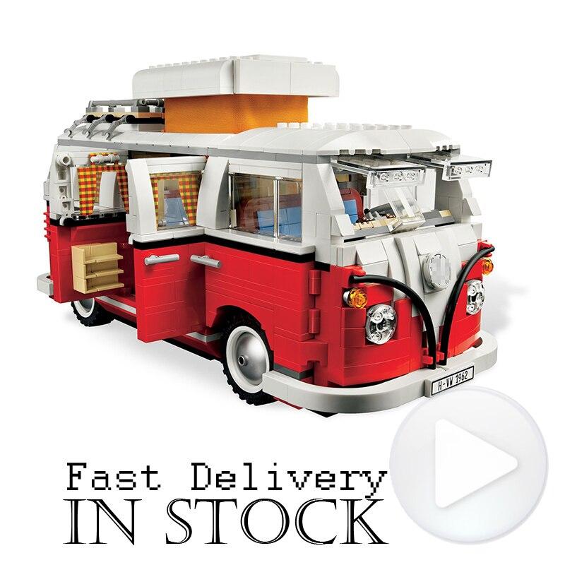 YiLE Technic Creatore Mini T1 Camper Van Cooper Modello Blocchi di Costruzione di Mattoni Giocattoli per i bambini regali brinquedos decool Tecnico
