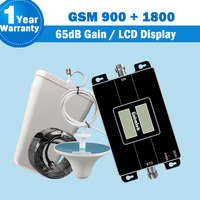 LCD Display Lintratek GSM Dual Band Mobile Signal Repeater GSM 900mhz LTE 1800mhz 65dB Gain Cellphone