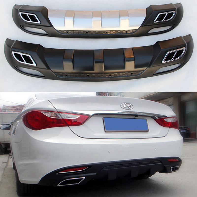 Fit For Hyundai Sonata Rear Bumper Diffuser Bumpers Lip Protector Guard Skid Plate Abs
