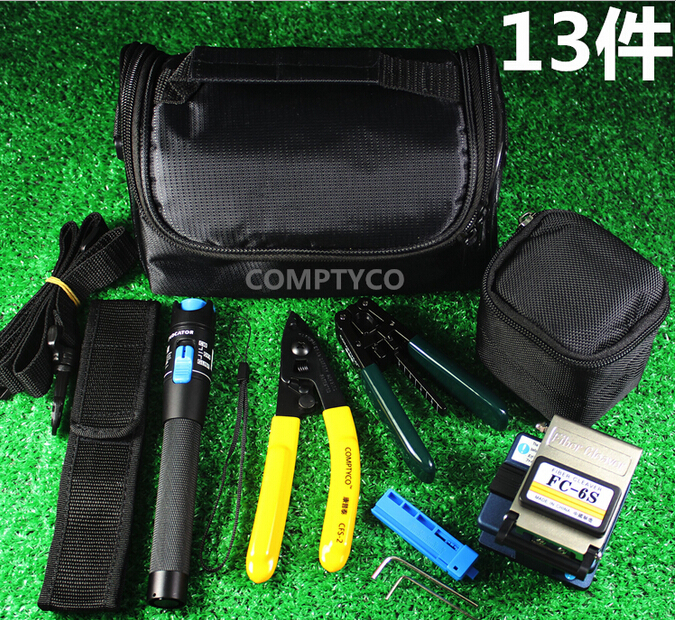 Ftth Tool Kit With Fc 6s Fiber Cleaver And Visual Fault