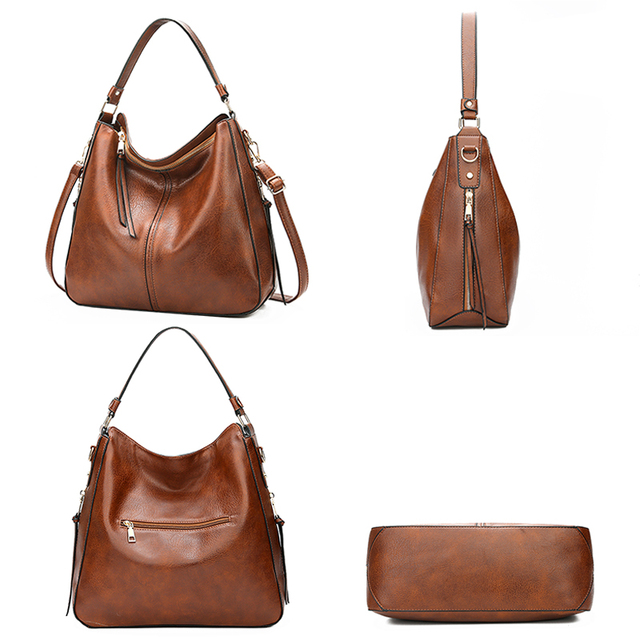 2018 vintage brown women leather handbags luxury designer shoulder bags high quality brand crossbody bags for women bolso mujer 3