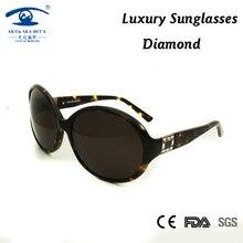 Acetato de alta Calidad Mujeres de Gran Tamaño Gafas de Sol oculos feminino gafas de sol de Lujo Del Diamante de la Vendimia Diseñador de la Marca oculos
