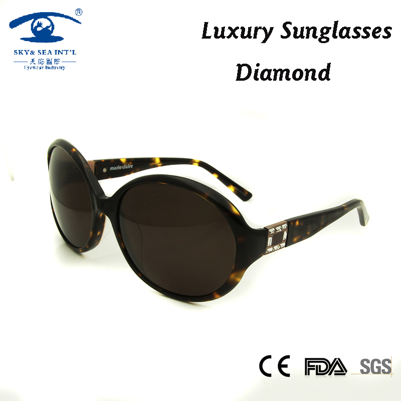 High Quality Acetate Women Sunglasses Oversized oculos feminino Vintage Diamond gafas de sol Luxury Brand Designer oculos