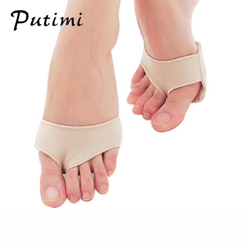 Image 2 - Putimi Fabric Gel Pads for Feet Care Slip Resistant Metatarsal Cushions Pads Silicone Forefoot Pain Support Front Foot Care Tool-in Foot Care Tool from Beauty & Health