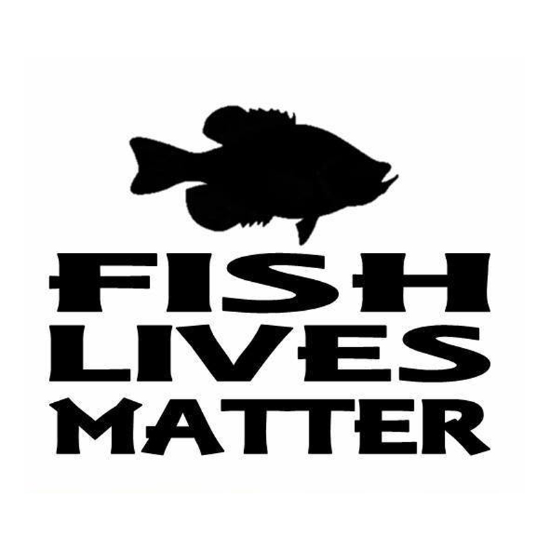 16.3cm*13cm Fish Lives Matter Animal Car-Styling Car Accessories Stickers Decals S4-0128