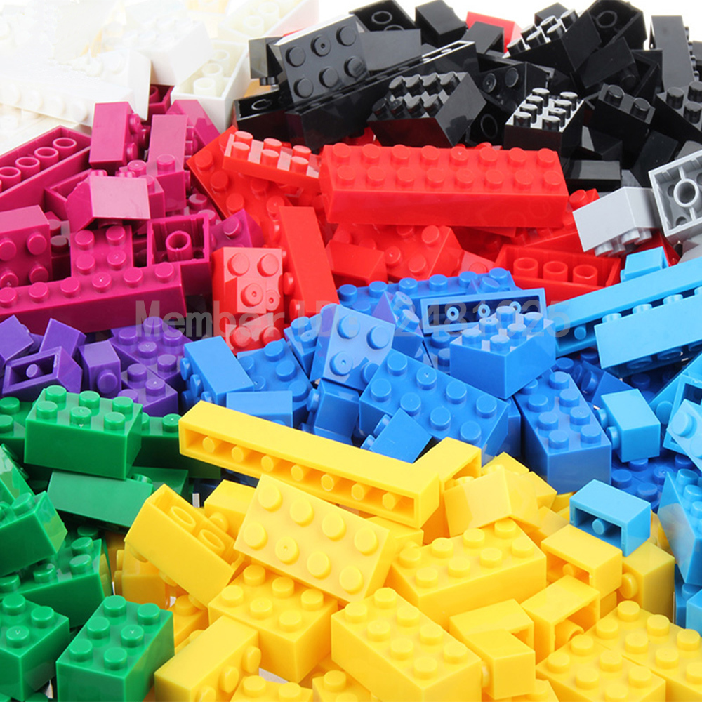 1000Pcs Building Bricks Set City DIY Creative Brick Toys For Child Educational Building Block Bulk Bricks Compatible With legoes 1000 pcs diy creative brick toys for child educational building block sets bulk bricks compatible with major brand blocks