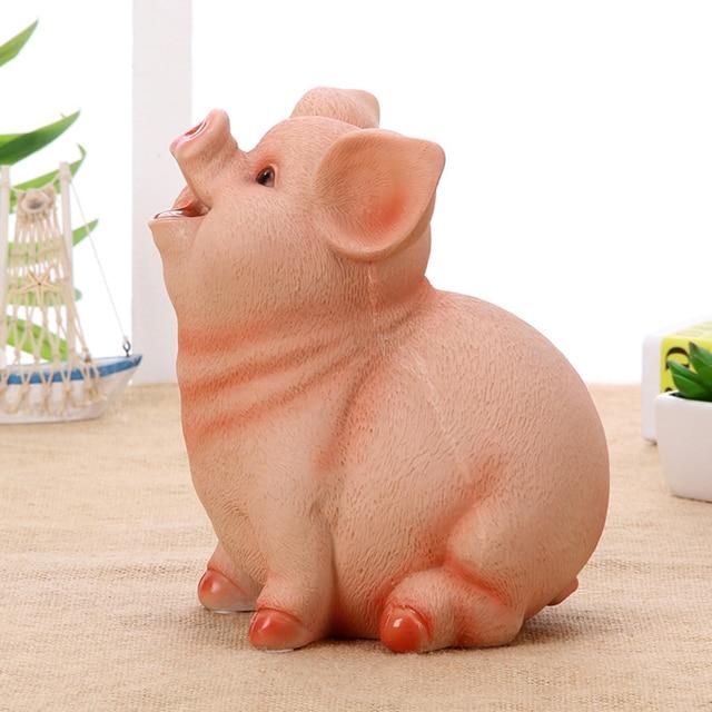 cute chinese decorations pink pig piggy eats coin bank savings secret stash tirelire mariage pokemon sparkasse save money 6koa58