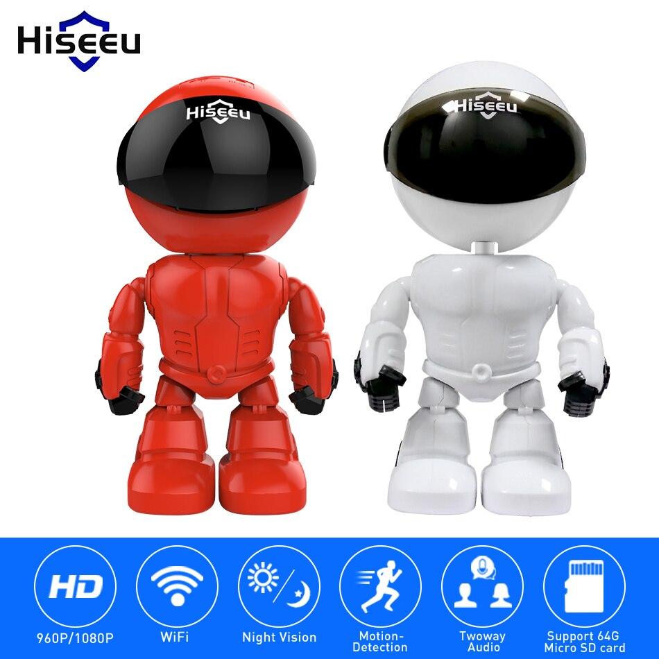 Hiseeu 2MP/1.3MP HD Беспроводной IP Камера Wi-Fi робот Камера 1080 P Wi-Fi Ночное видение Камера IP-сети Камера CCTV двухстороннее аудио