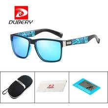 DUBERY Spuare Mirror Summer Brand Design Polarized Sunglasses Men